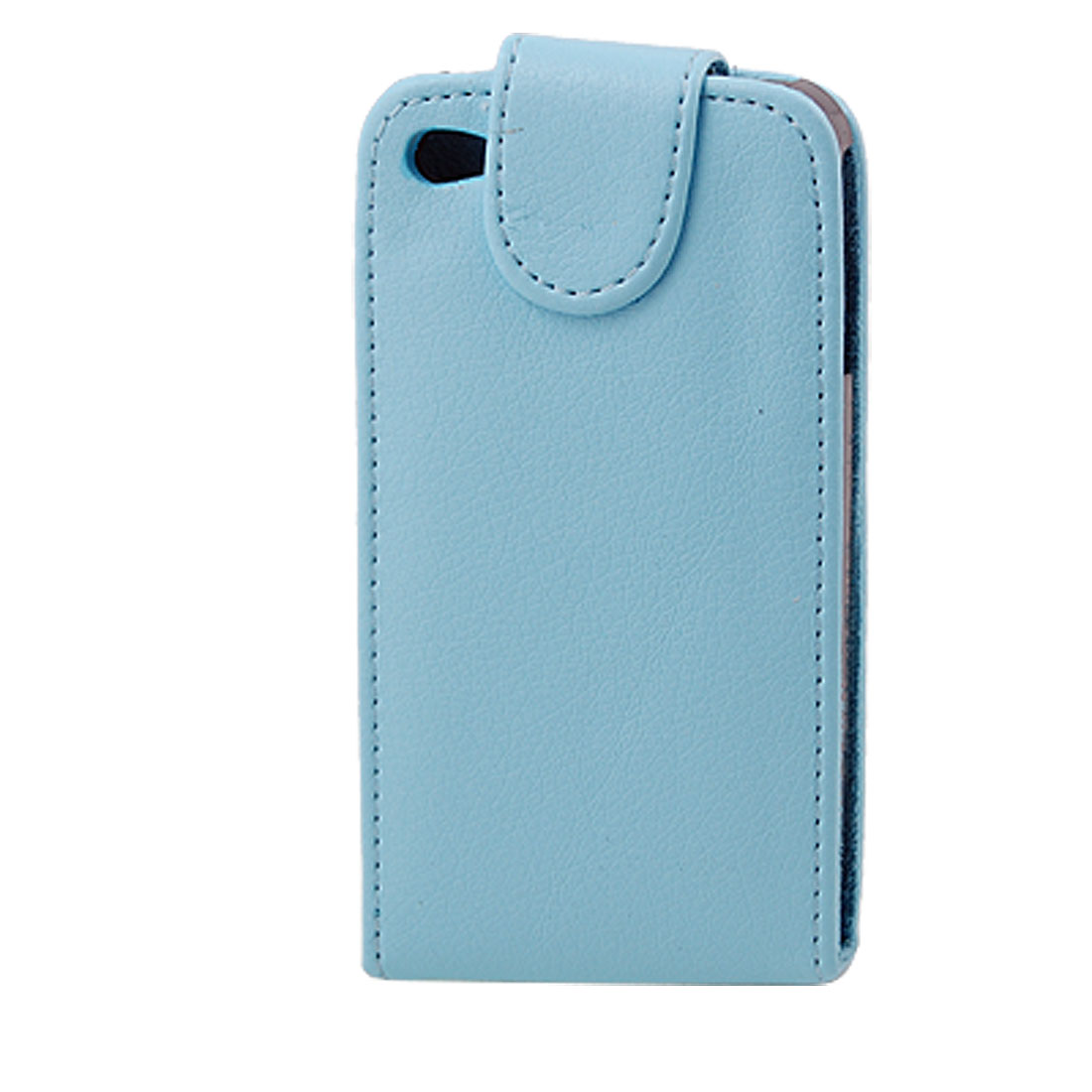Magnetic Closure Babyblue Faux Leather Pouch Case for iPhone 4 4G