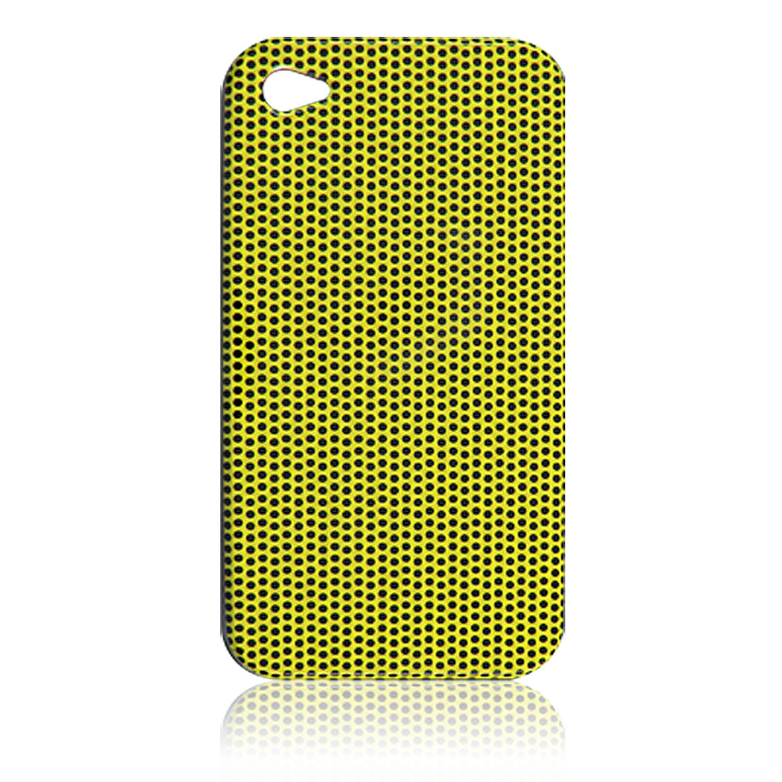 Hard Plastic Back Case Cover Yellow for Apple iPhone 4 4G