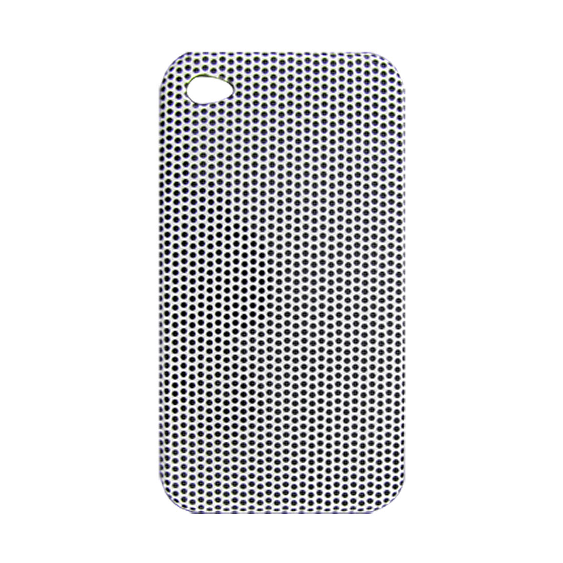White Plastic Black Dot Pattern Back Case for iPhone 4 4G