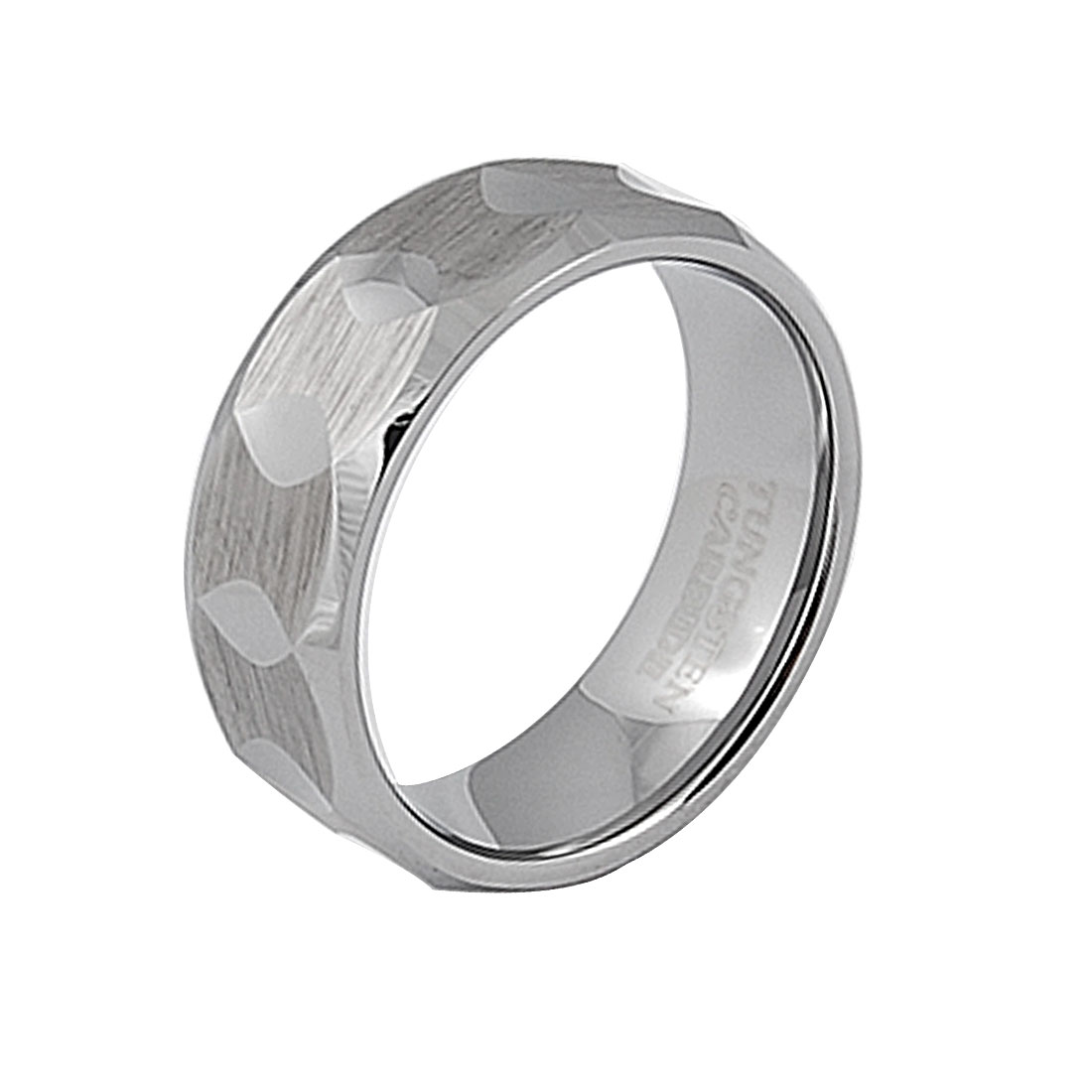 Unisex Tungsten Carbide Fashion Jewelry US 9 Finger Ring Gift
