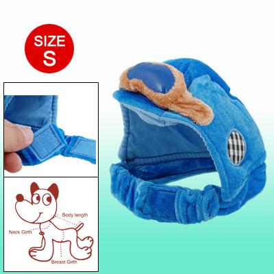 X004-02 Hook and Loop Fastener Fasten Blue Velvet Sponge Size M Hat Cap for Dog