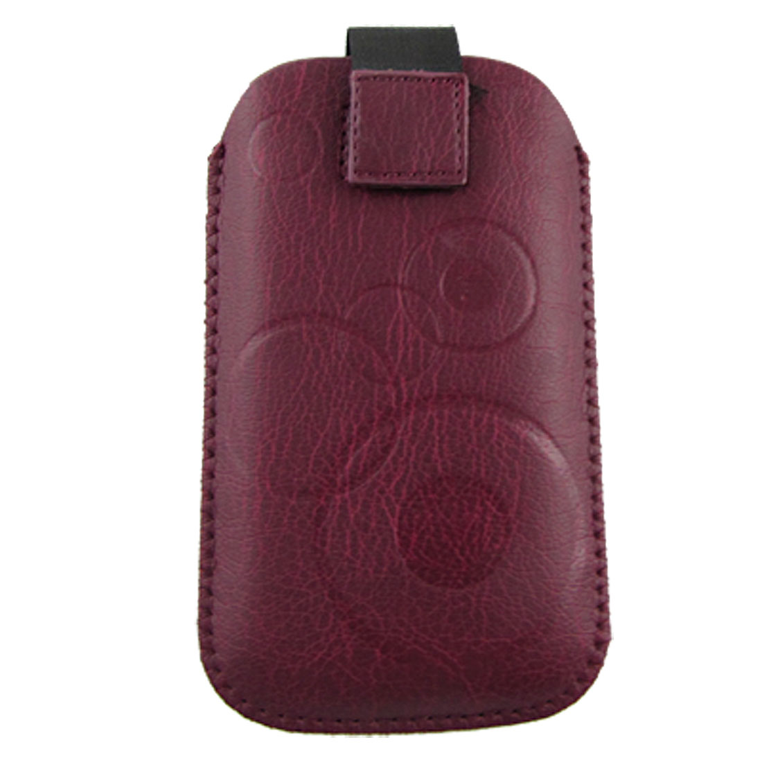 Faux Leather Circle Pattern Pull Up Pouch for Nokia5800