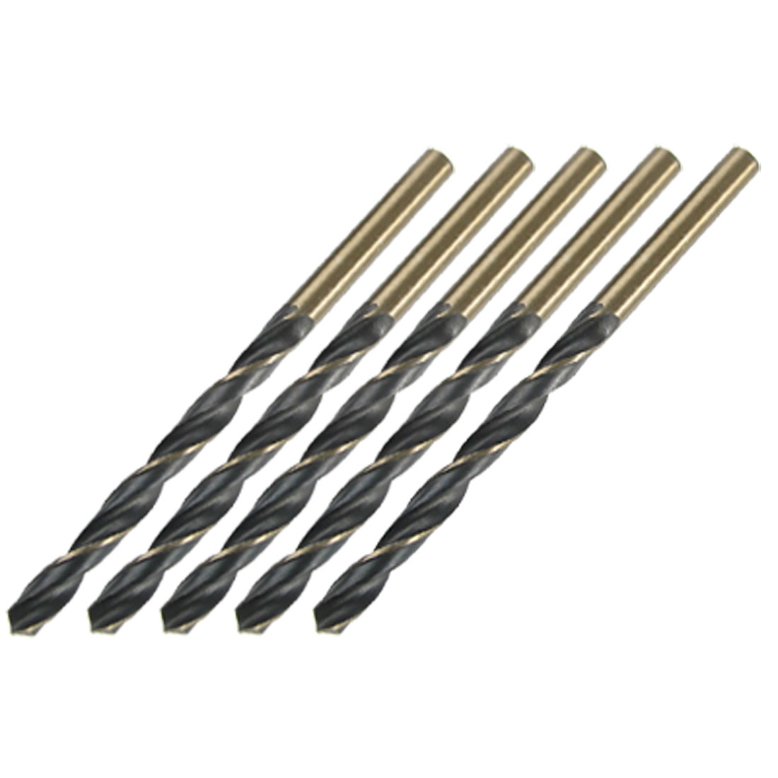 5 Pcs Straight Shank 3.5mm Spiral Twist Drill Bit Set