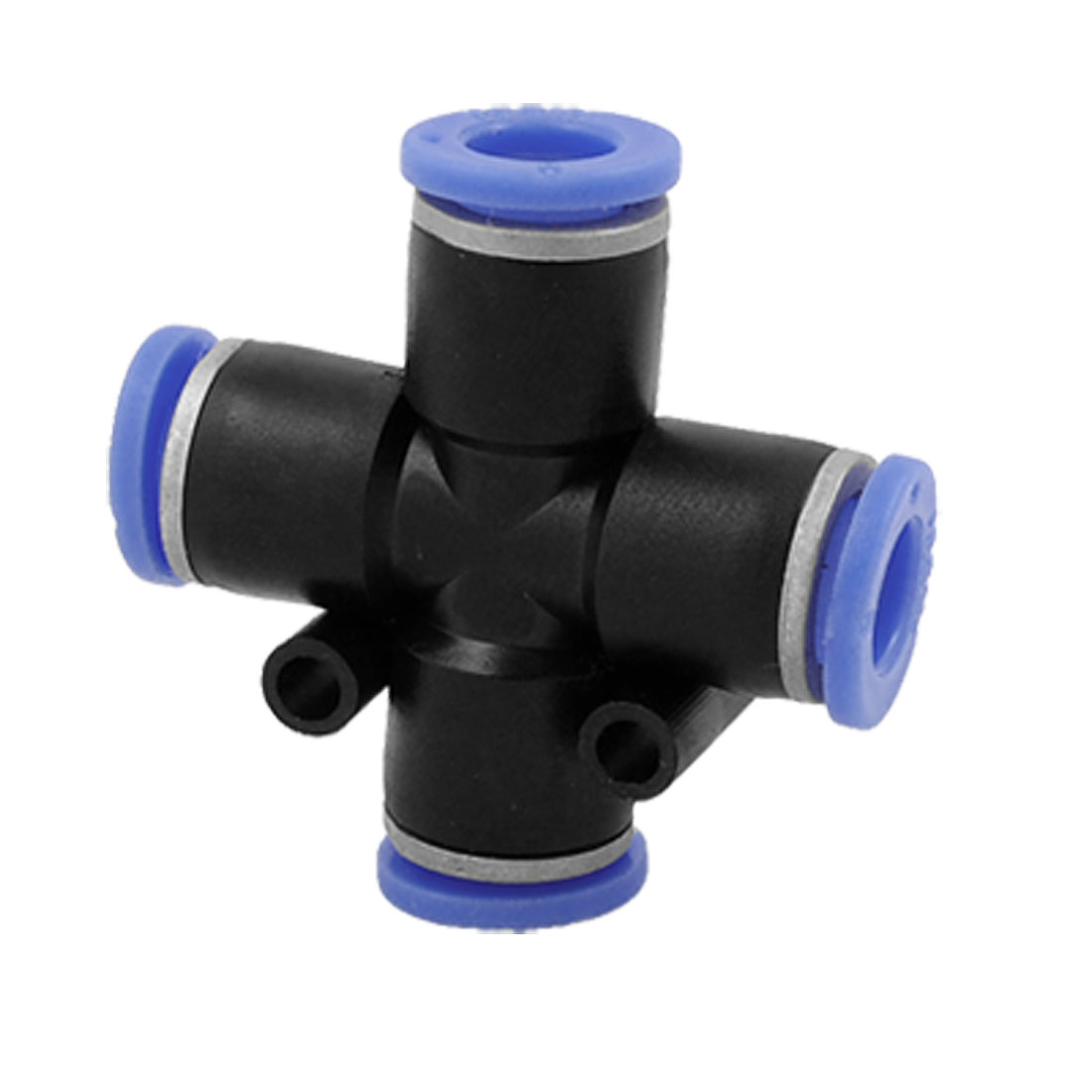4 Way Cross Shaped Quick Push In Connector Pneumatic Fittings 6mm