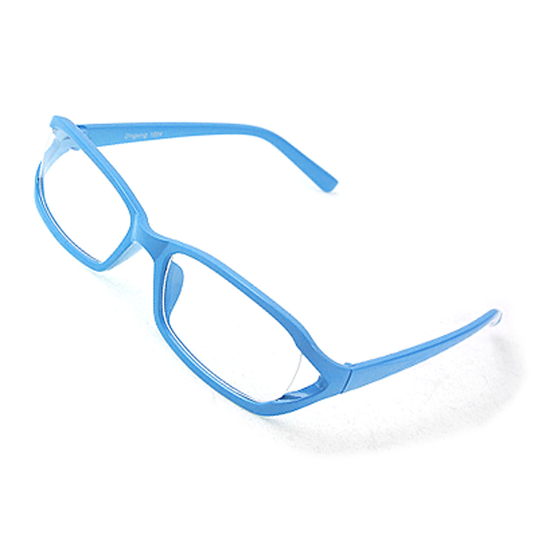Sky Blue Full Rim Clear Lens Plastic Glasses Eyeglasses
