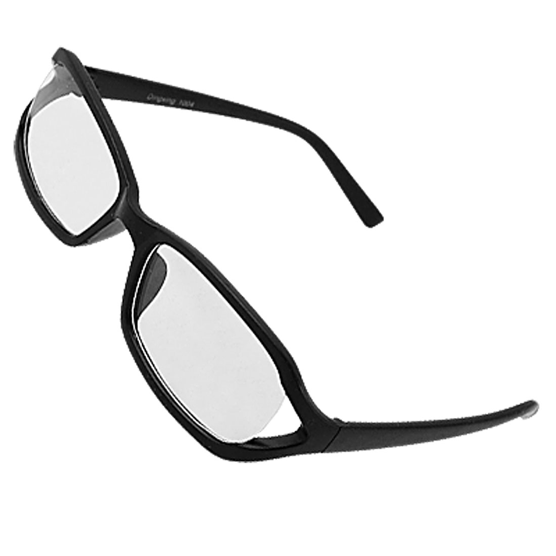 Black Frame Unisex Plano Glasses Eyeglasses Spring Temple