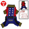 Cute Dark Blue Autumn Pet Dog Puppy Cat Apparel Coat Jacket Jumpsuit Size S
