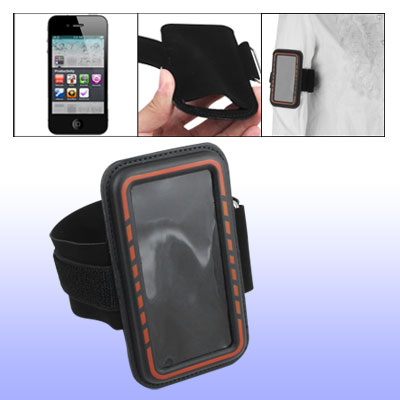 Red Edge Black Adjustable Sports Armband Holder for Cell Phone