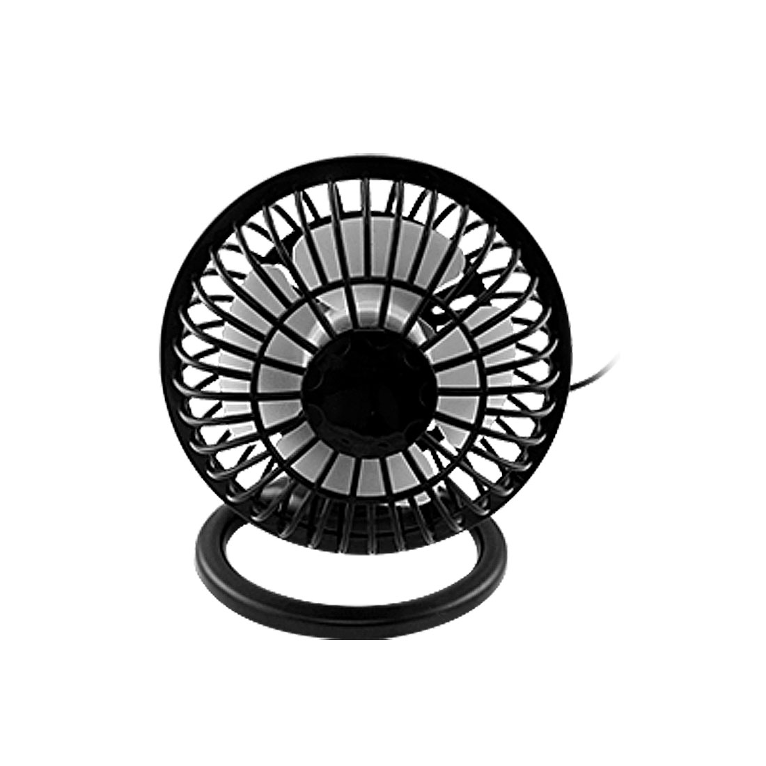 Black Angle Adjustable 4 Plastic ON/OFF Mini USB Desk Fan