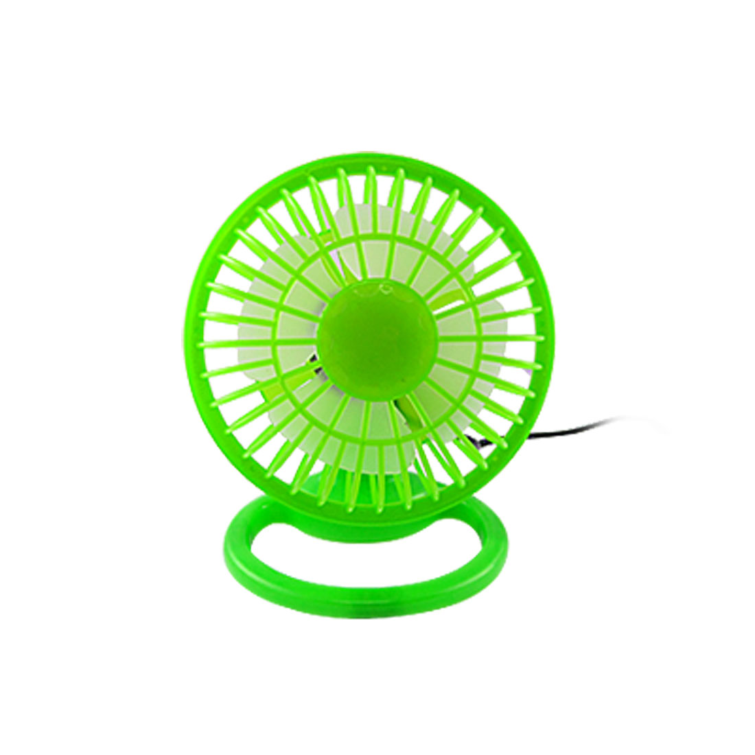 ON/OFF Plastic 4 Angle Adjustable Green Mini USB Desk Fan