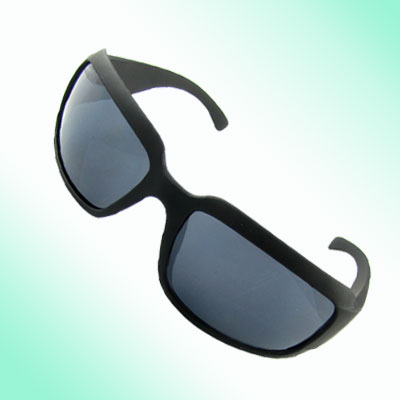 Black Rubberized Plastic Full-rim Sports Unisex Sunglasses