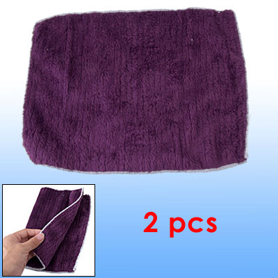 Aubergine Color Soft Rectangle Cleaning Towel 2pcs