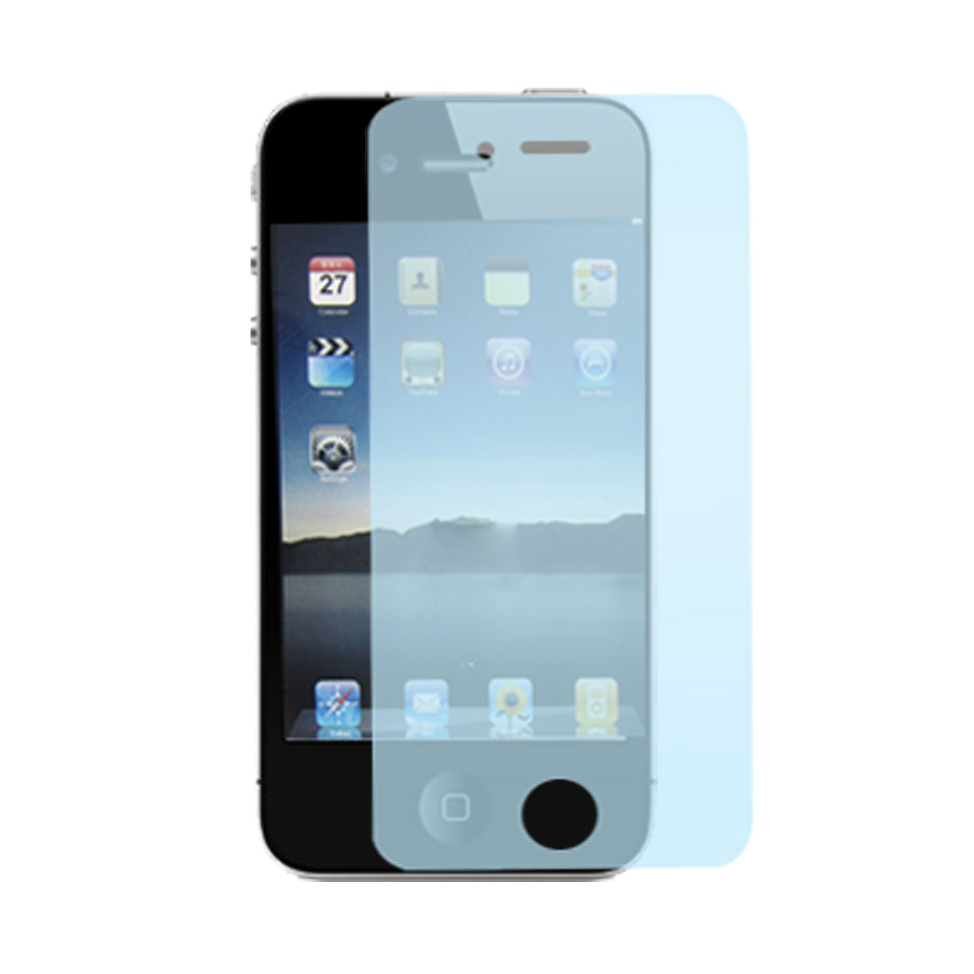 Clear Blue Screen Guard Protector for Apple iPhone 4 4G