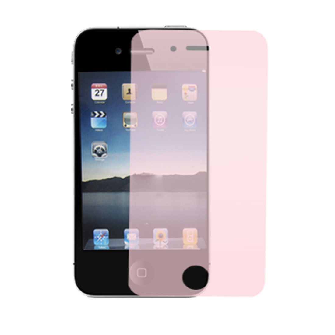 Protective Clear Pink Screen Guard for Apple iPhone 4