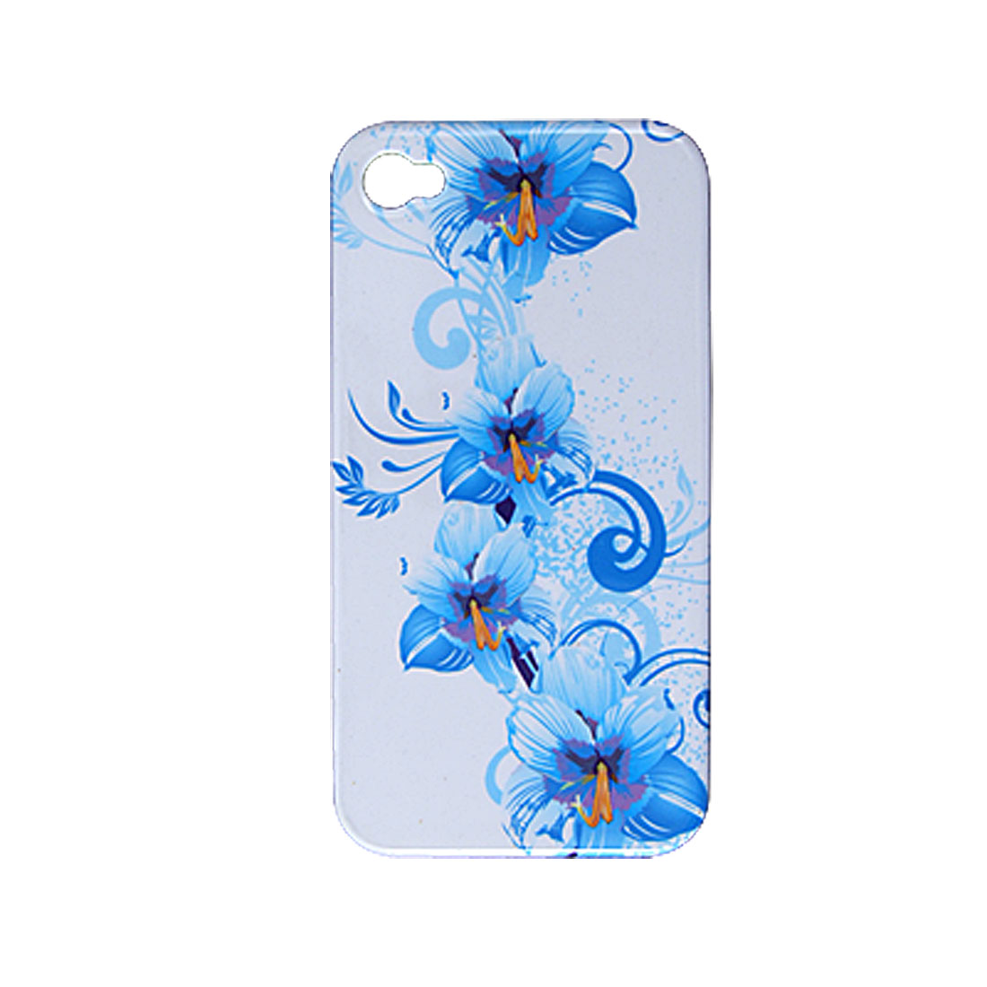 Protective Hard Plastic Case Flower Back Guard for iPhone 4 4G