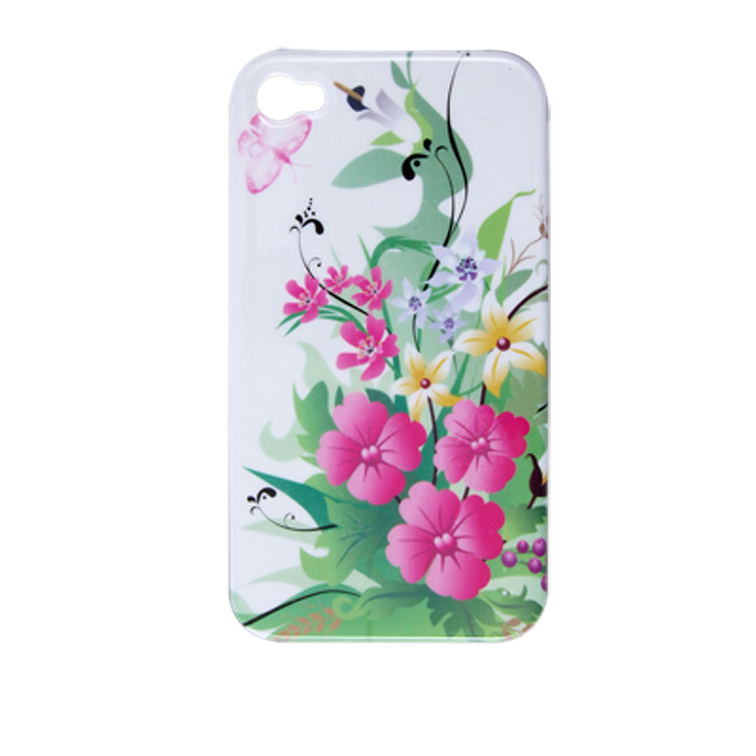 Colors Flower Plant Hard Plastic Back Case for iPhone 4 4G
