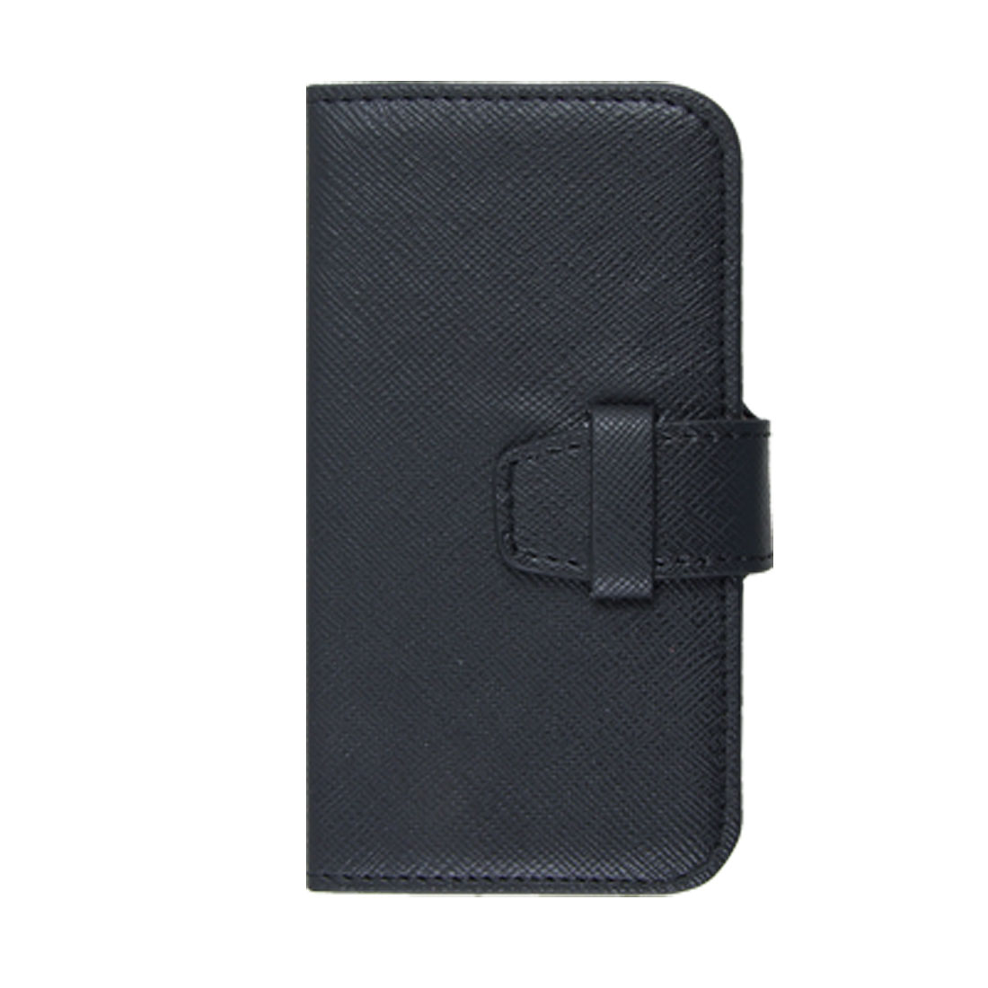 Horizontal Black Faux Leather Pouch Holder Case for iPhone 4 4G