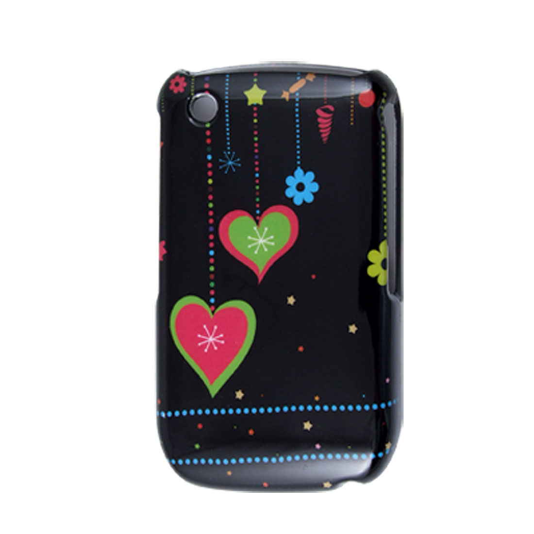 Heart Pattern Hard Plastic Protective Cover for Blackberry 8520