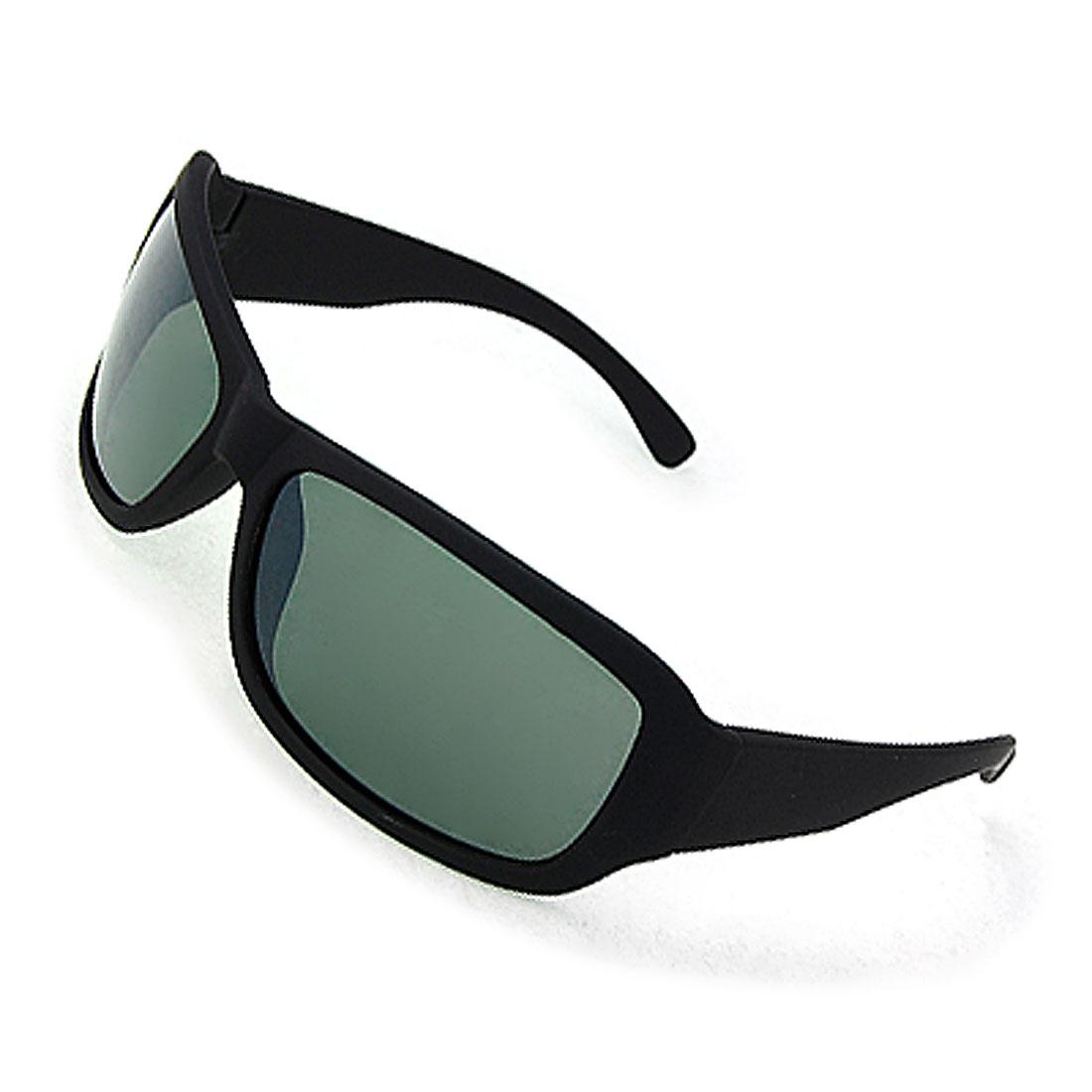 Black Full Frame Atrovirens Lens Sunglasses for Unisex