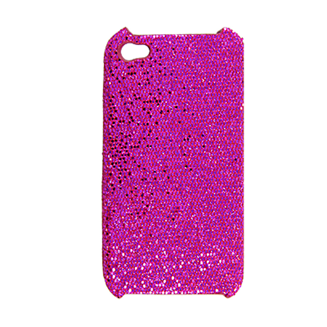 Hot Pink Twinkled Sequin Coated Plastic Back Cover for iPhone 4