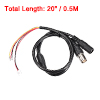 Plastic Female DC Power BNC Jack Cable 2.1x5.5mm for CCTV Camera