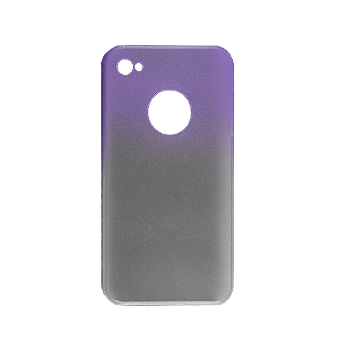 Rubberized Hard Plastic Gradient Color Back Case for iPhone 4 4G