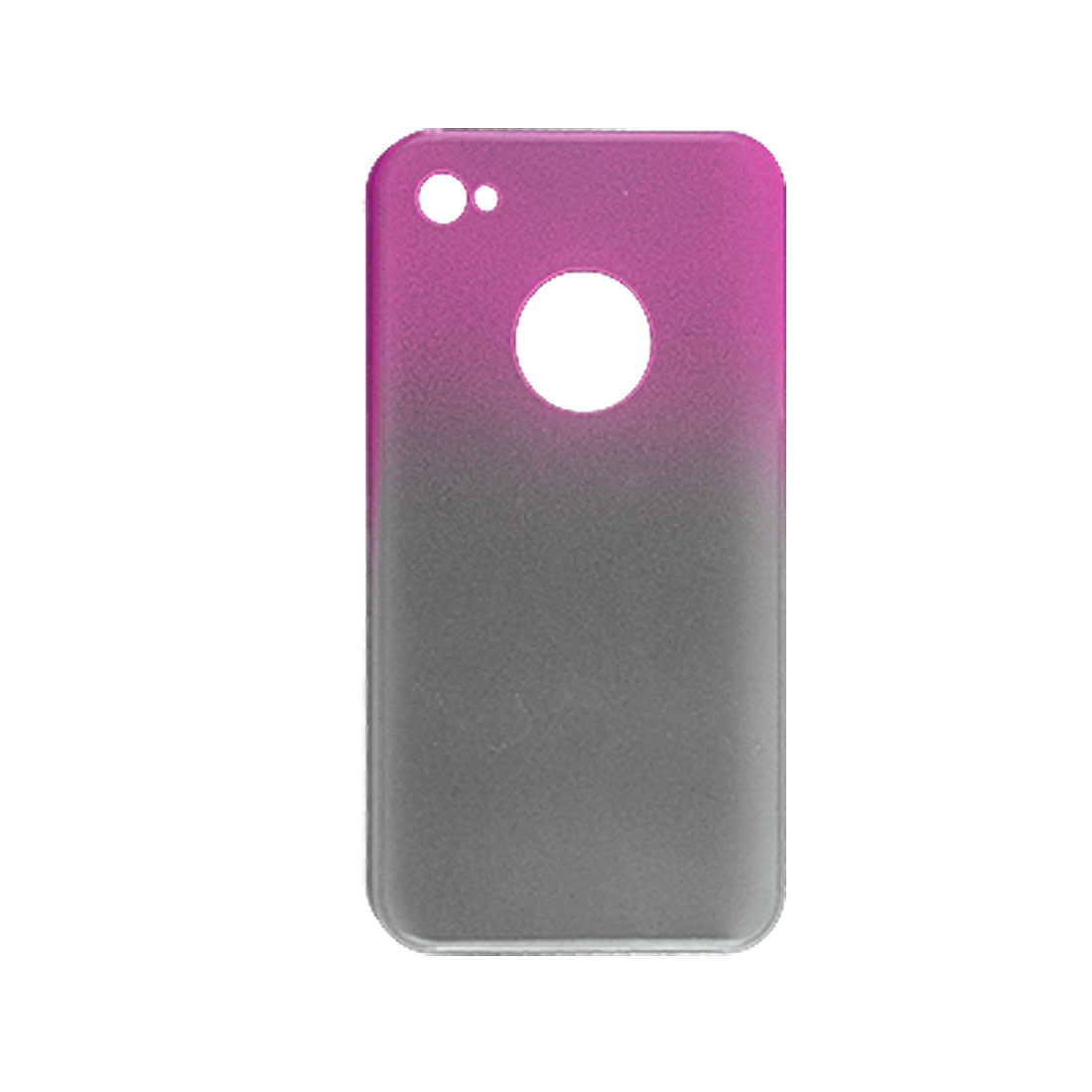 Dual Colors Anti Glare Rubberized Hard Plastic Back Case for iPhone 4 4G