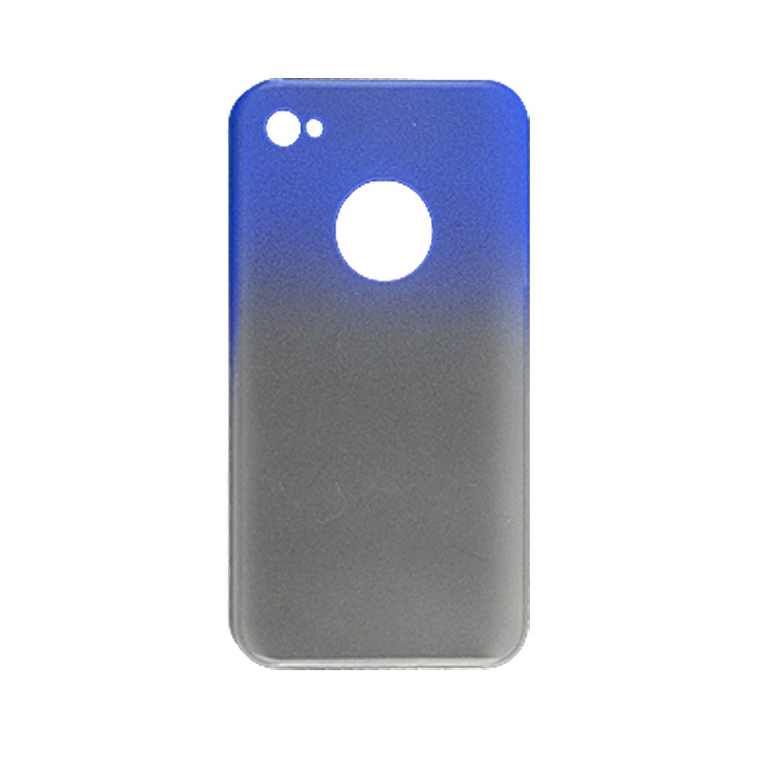 Gradient Color Rubberized Hard Plastic Shell Case for Apple iPhone 4 4G