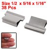 Office Stationery 38pcs Mini Metal Dispenser Fast Clam Clips