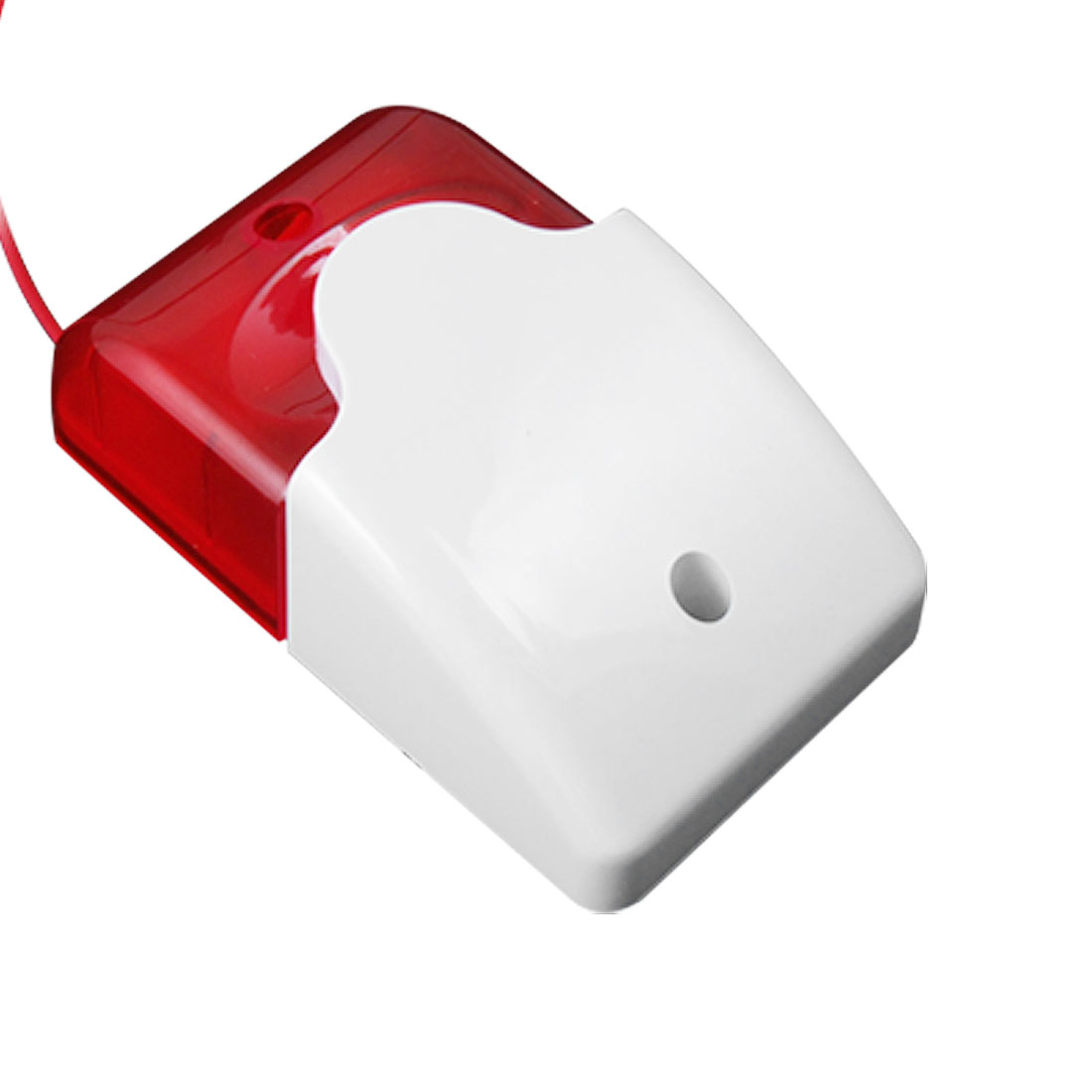 White Red 12 Volt DC Mini Strobe Siren Alarm Warner