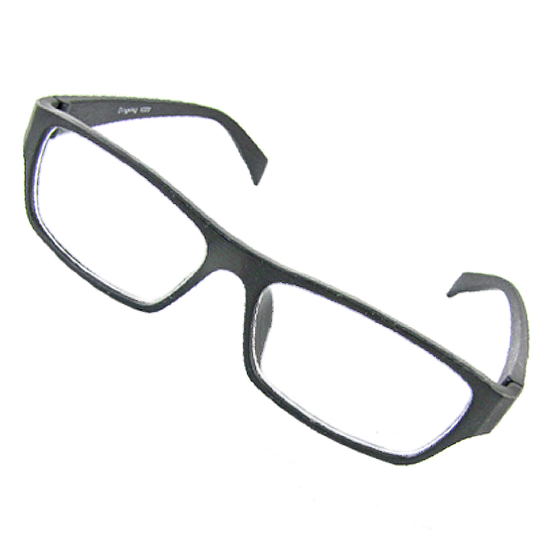 Black Plastic Frame Glasses Full Rim Eyewear Plain Spectacles