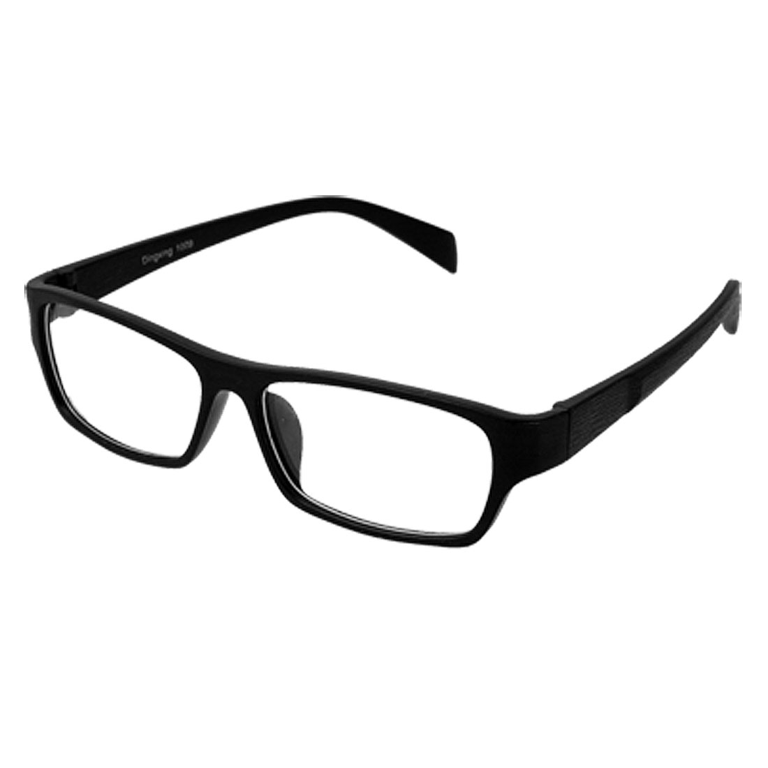 Wood Grain Black Rectangle Unisex Eyewear Glasses