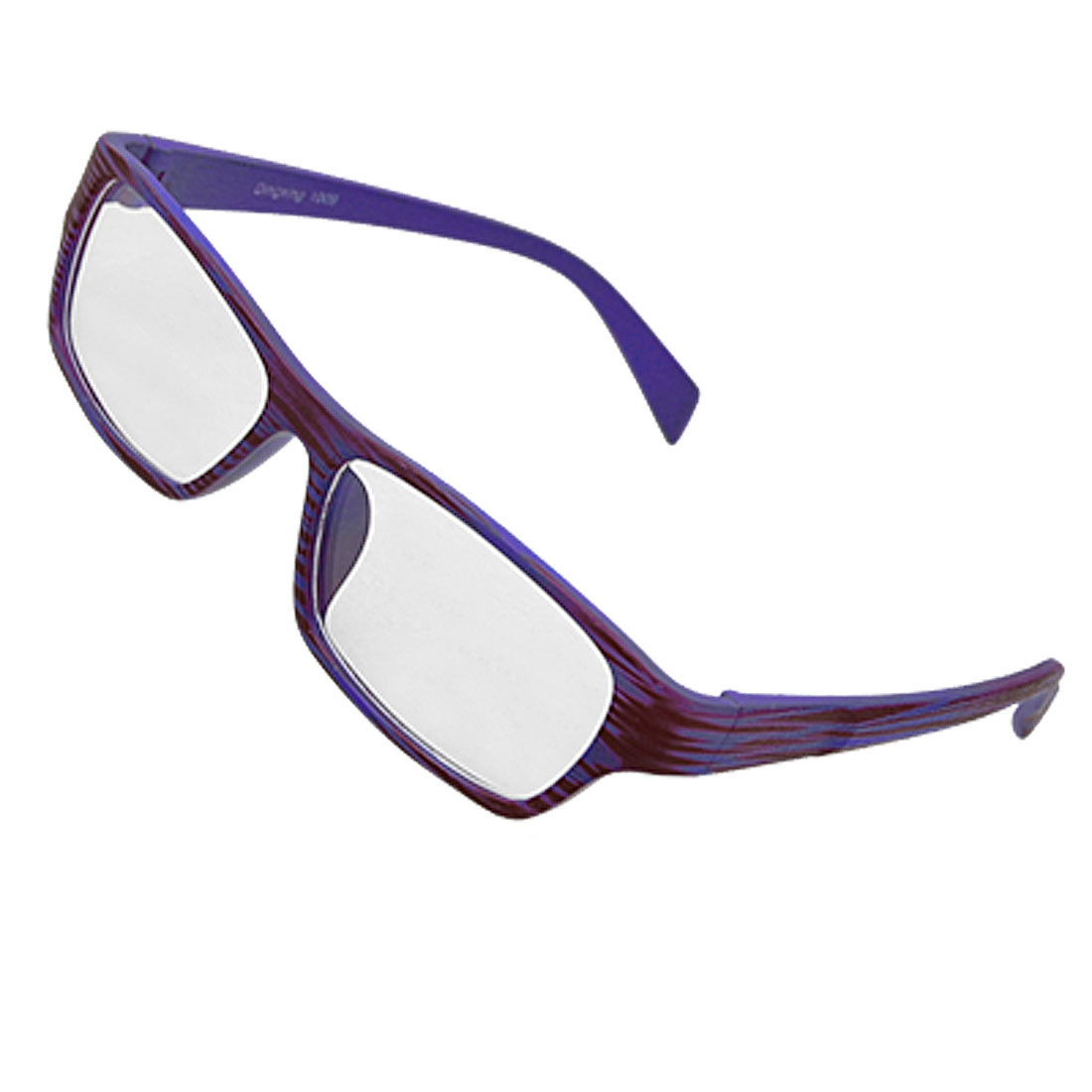 Rectangle Purple Wood Grain Unisex Eyeglasses Eyewear