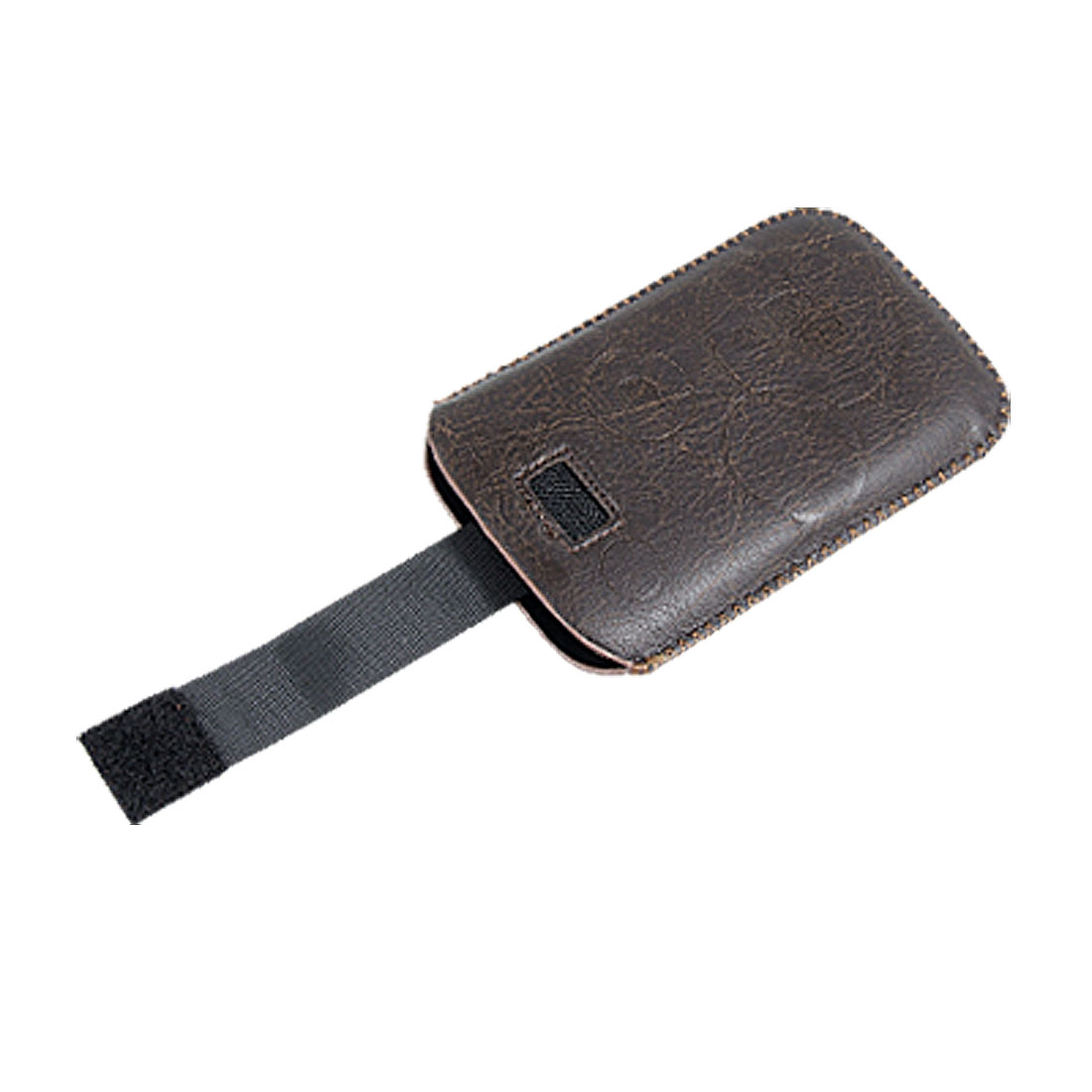 Pull Up Brown Faux Leather Pouch Holder for iPhone 3G
