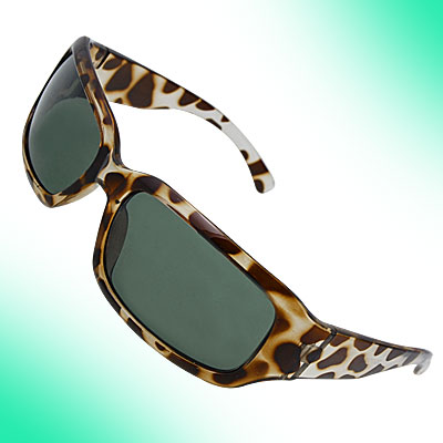 Ladies Leopard Skin Pattern Frame Rectangle Sunglasses