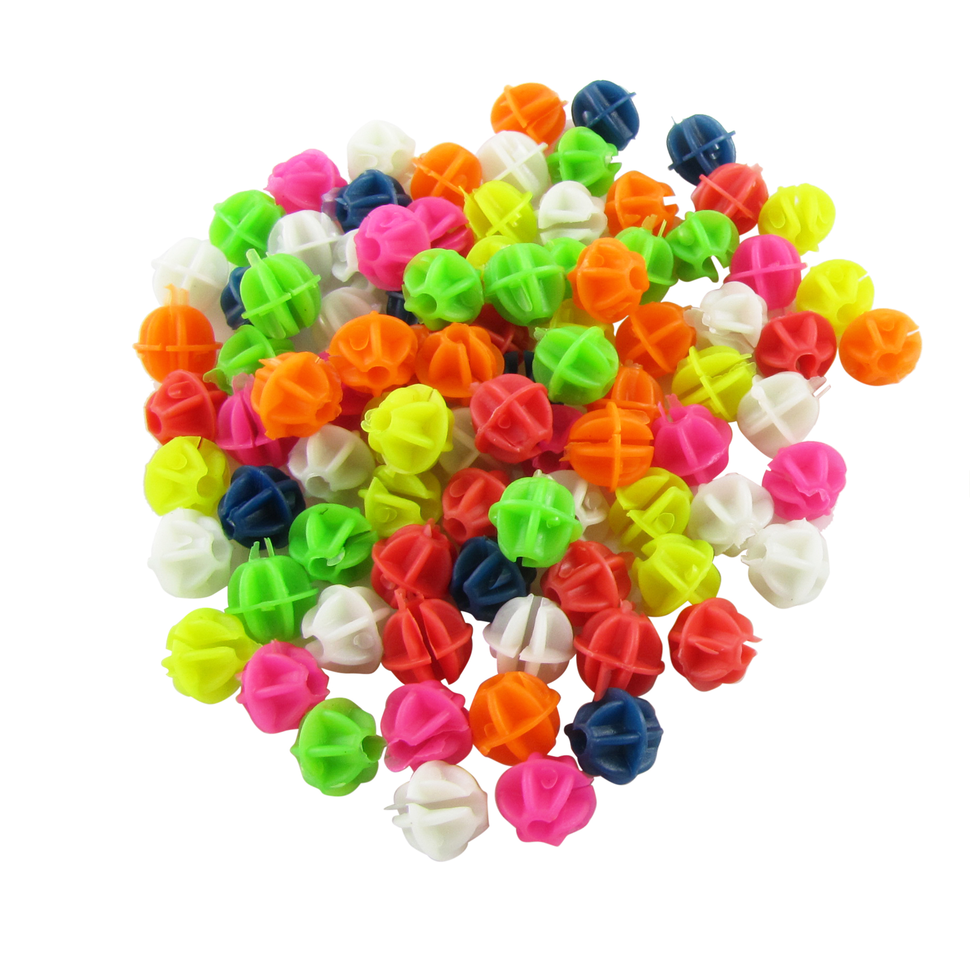 2 Bags Colorful Plastic Clip Spoke Bicycle Beads Decor