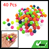 40pcs Colorful Plastic Clip Spoke Bicycle Beads Decoration