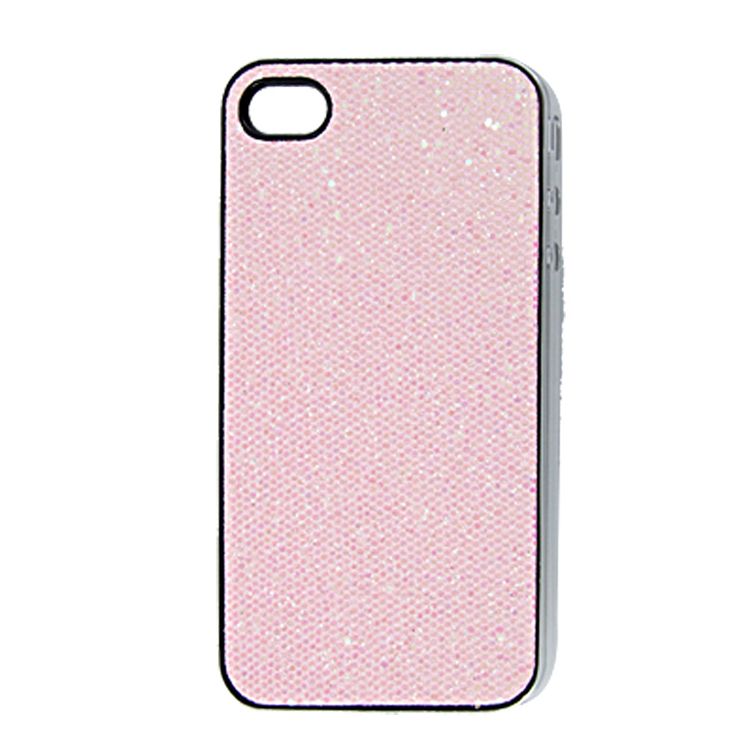 Protective Sequin Peachpuff Plastic Back Cover Case for iPhone 4 4G