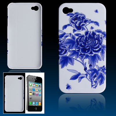 Large Flower Hard Plastic Back Cover Guard for iPhone 4 4G