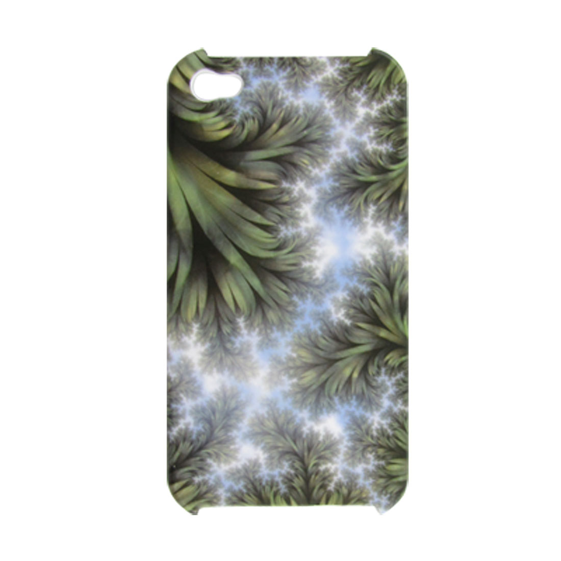 Green Tree Leaves Pattern Hard Back Shell with Screen Film for iPhone 4 4G