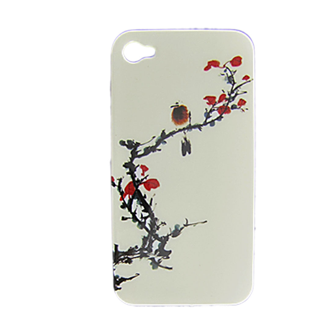 Plum Blossom Style Back Shell with Screen Guard for iPhone 4 4G