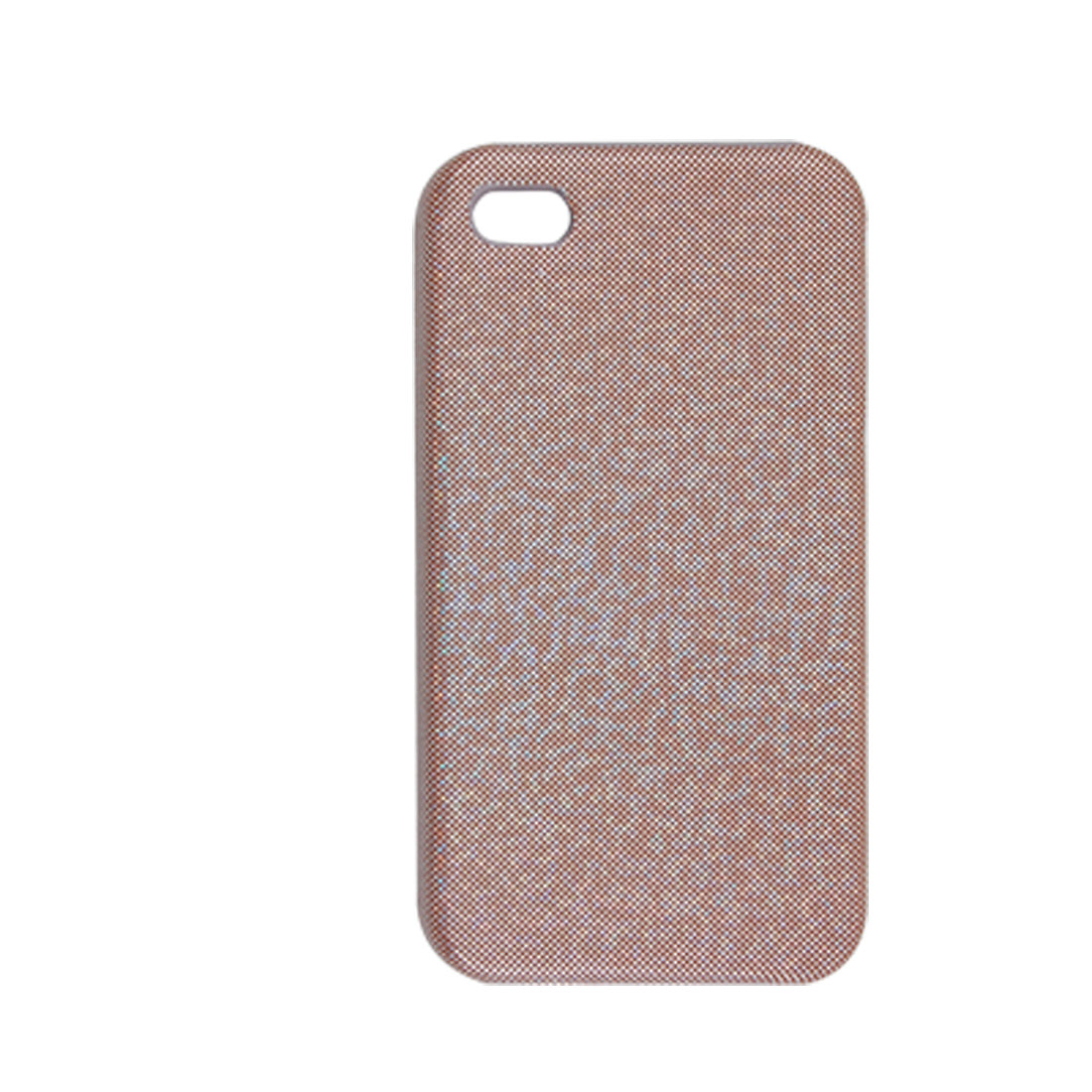 Faux Leather Coated Shiny Light Brown Back Cover for iPhone 4 4G