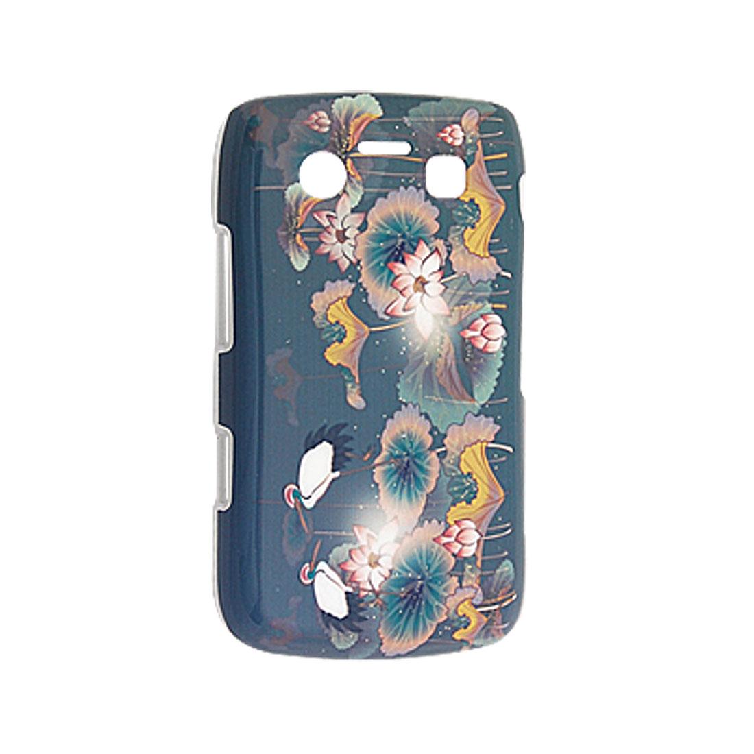 Crane in Lotus Pool Painting Plastic Back Case for Blackberry 9700