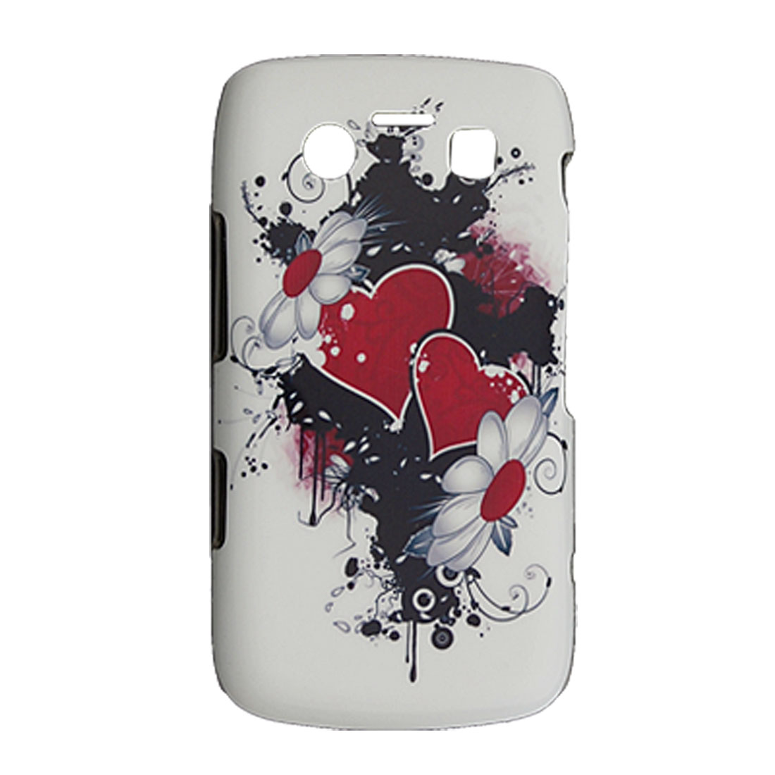 Heart Flower Surface Hard Plastic Back Case for Blackberry 9700