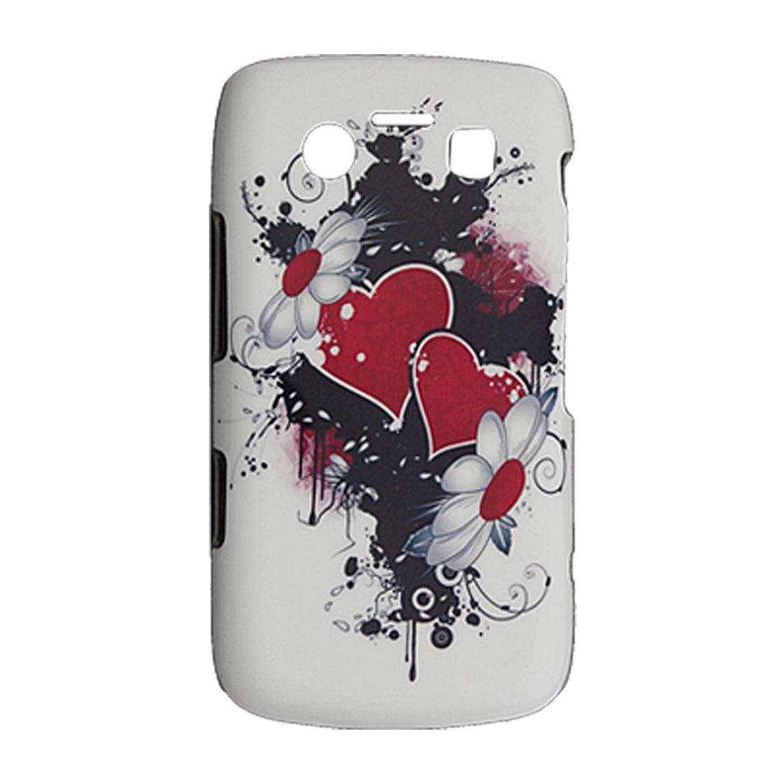 Heart Flower Surface Hard Plastic Back Case for Blackberry 9700