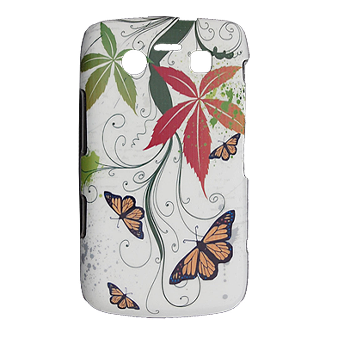 Butterflies Printed Hard Plastic Back Case for Blackberry 9700