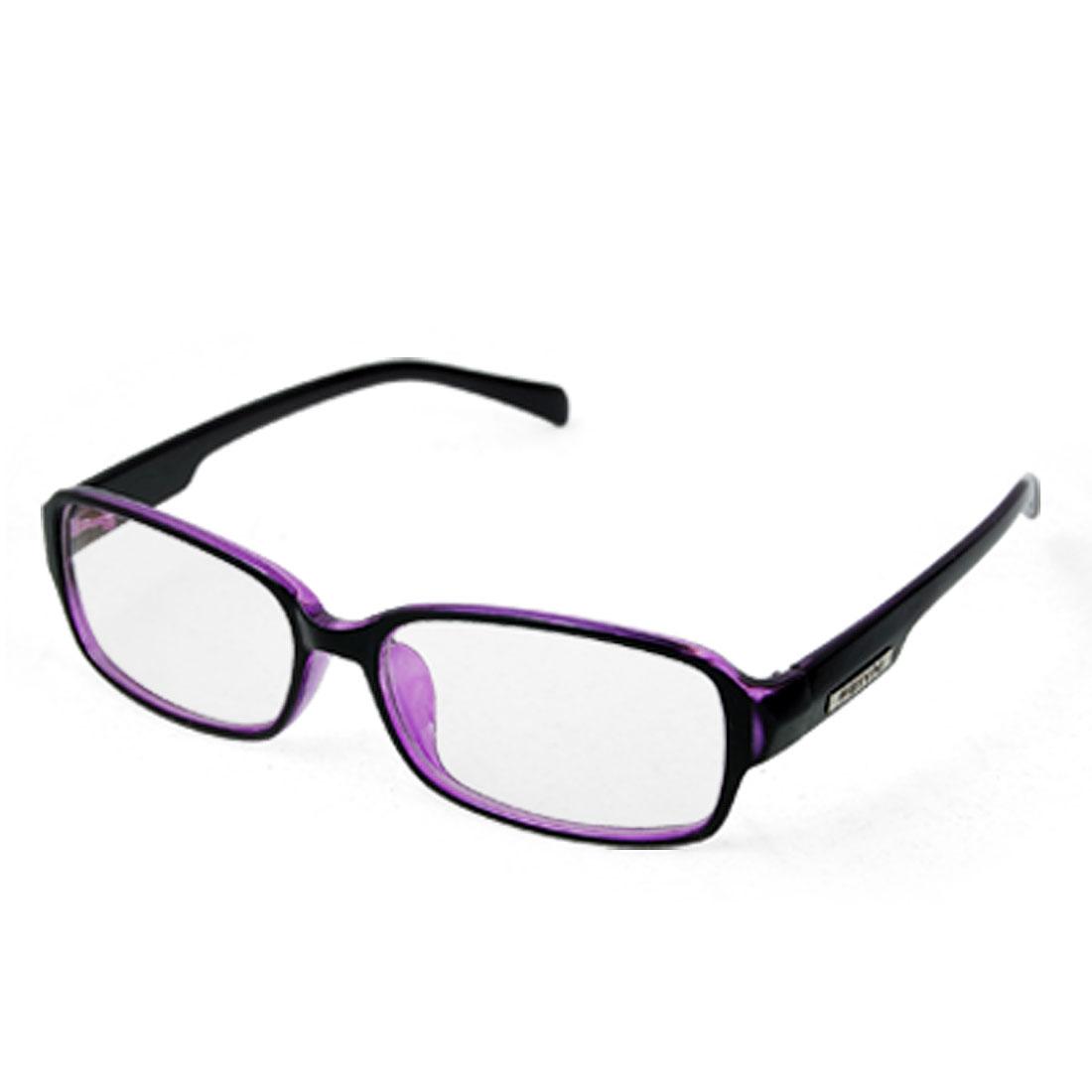 Black Purple Full Rim Plastic Frame UV Protection Glasses