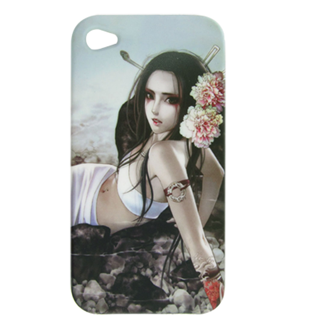Succubae Design Soft Plastic Back Case for iPhone 4 4G