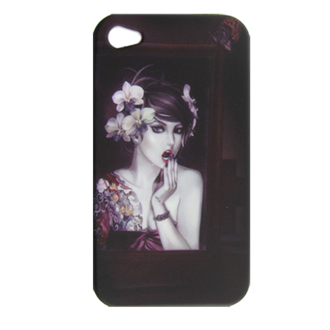 Sexy Succubae Style Soft Plastic Back Shell for iPhone 4 4G