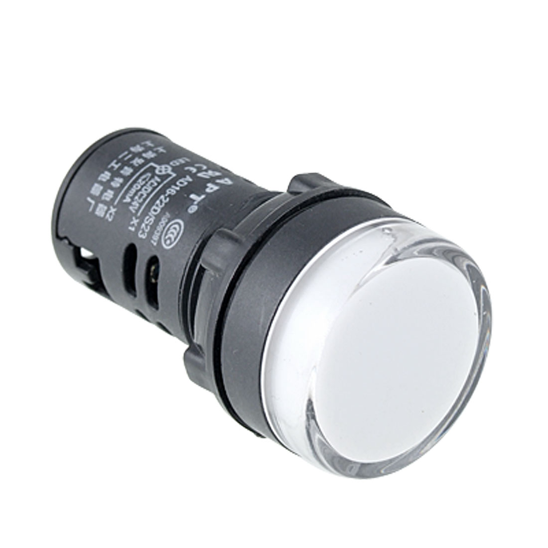 White Black LED Indicator Light Pilot Signal Lamp